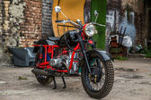 Soviet retro motocycle — Fotografia Stock