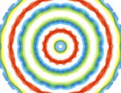 Bright background with abstract radial pattern — Stock Photo
