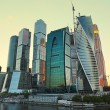 Moscow-city (Moscow International Business Center) at evening — Stock Photo #52717497