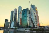 Moscow-city (Moscow International Business Center) at evening — Stock Photo