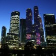 Moscow-city (Moscow International Business Center) at night — Stock Photo #52858121
