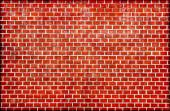 Red brick wall grunge texture — Stock Photo