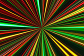 Bright concentric color lines on black — Stock Photo