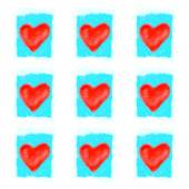 Bright red abstract hearts  — Stock Photo
