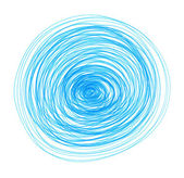 Abstract blue drawn round elements for design — Stock Photo