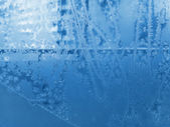 Ice pattern on winter glass — Stock Photo