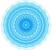 Abstract blue concentric pattern — Stock Photo