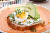 Sandwich with eggs — Stock Photo