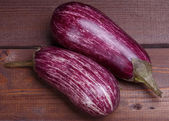 Striped eggplant — Stock Photo