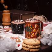Two cups of cocoa — 图库照片