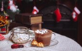 Cup of cocoa with the foam — Stock Photo