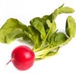 Ripe fresh radishes with tops — Stock Photo #62678697