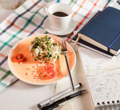 Salad for breakfast — Stock Photo
