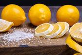 Low key lemons — Stock Photo