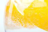 Lemon in glass — Stock Photo