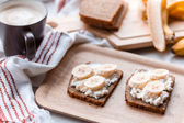 Sandwich with banana — Stock Photo