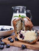BlackBerry cupcake — Stockfoto