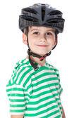 Junge mit helm — Stockfoto