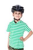 Boy with helmet — Stock Photo
