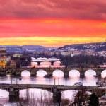 Bridges in Prague — Stock Photo #56230555