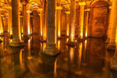 Underground Basilica Cistern — Stock Photo