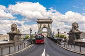 塞切尼链桥 — 图库照片