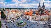 Prag, eski şehir meydanı — Stok fotoğraf