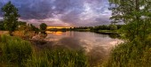 Lago al tramonto — Foto Stock