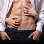 Hands on man's torso — Stock Photo #56254551