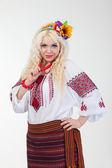 Woman in Ukrainian dress — Foto Stock