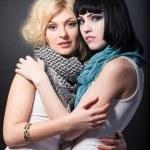 Lesbians hugging — Stock Photo #56260637