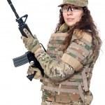 Army girl — Stock Photo #56266997
