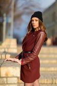 Fashion woman outdoors — Foto Stock