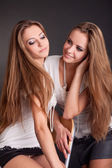 Beautiful girls twins — Stock Photo