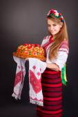 Women in ukrainian clothes — Stock Photo