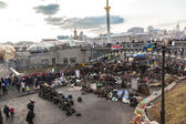 Ukrainian revolution — Stock Photo
