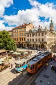 Old tram in Lviv. — ストック写真