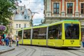 Old tram in Lviv. — Stockfoto