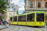 Old tram in Lviv. — Stok fotoğraf