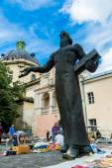 Lviv historic center — Stock Photo