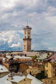 Lviv bird's-eye view — Stock Photo