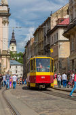 Tram in Lviv. — Stock Photo