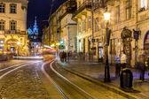 Rynok Square in Lviv — Stock Photo