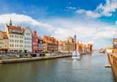Vistula River in Gdansk — Stock Photo