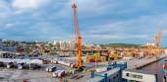 Tiefwasser-Containerterminal — Stockfoto