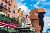 Gdansk port crane — Foto de Stock