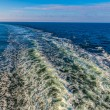 Wake from a cruise ship — Stock Photo #59083485