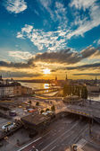 Night panorama of  Stockholm — ストック写真