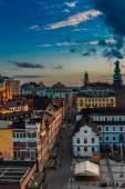 Night panorama of  Stockholm — Stock Photo