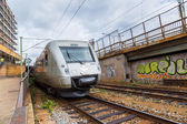 Modern  train in Sweden — Stock Photo